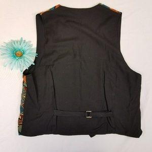 City Streets Jackets & Coats - Vintage 80s abstract colorful fleur de lis vest